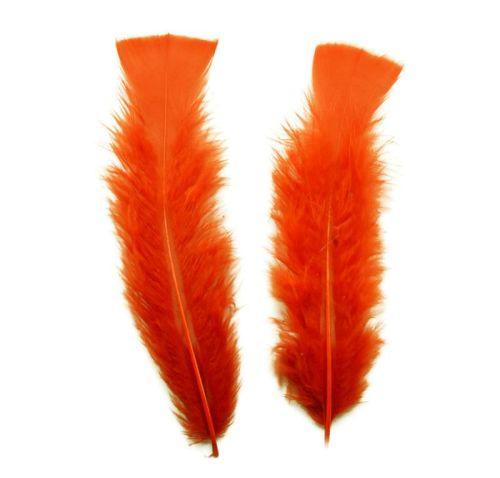Orange Turkey Feathers Flats