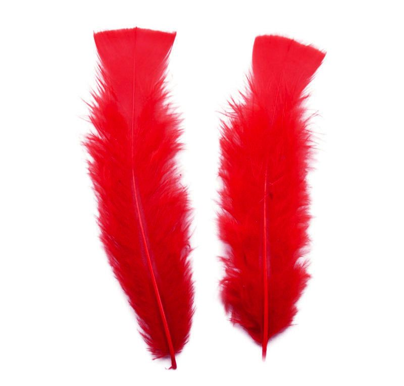 Red Turkey Feathers Flats