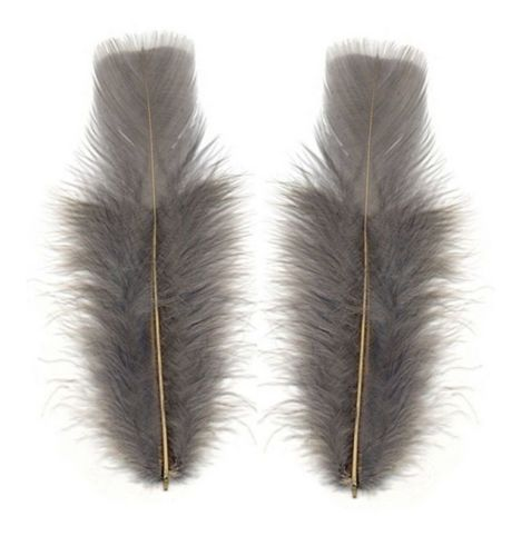 Silver Turkey Feathers Flats