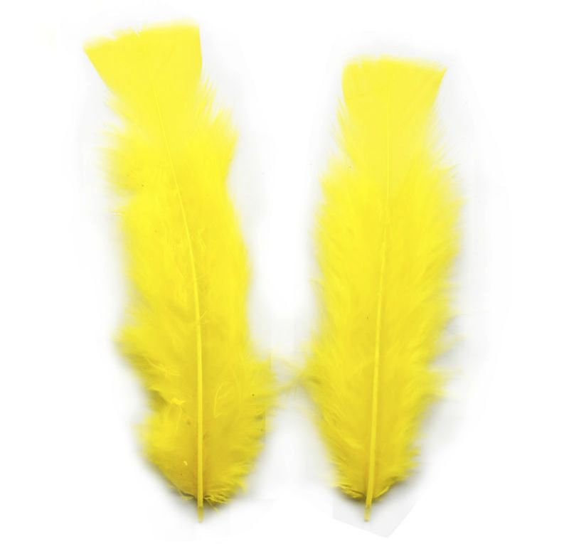 Yellow Turkey Feathers Flats