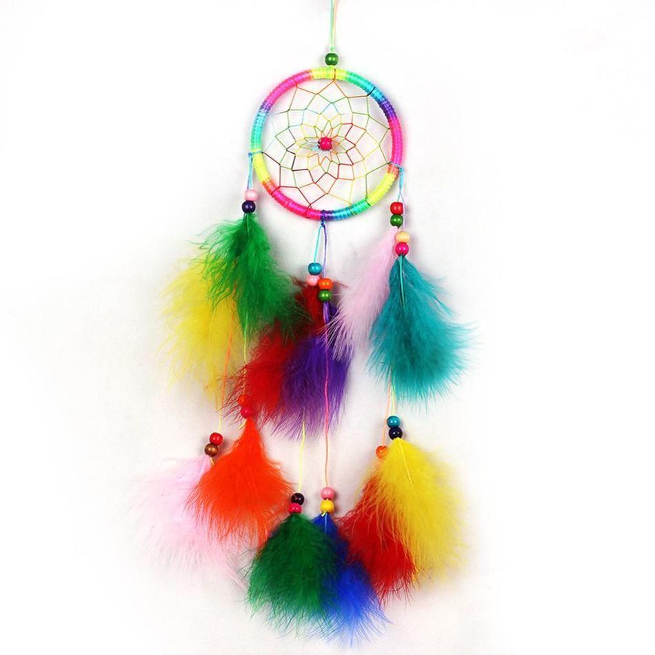 Rainbow Feather Dreamcatcher