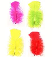 Turkey Coquille Feathers - Flourescent Shades