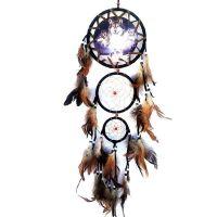 Feather Dreamcatcher Wolf Design