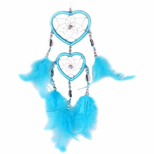 Feather Dreamcatcher Heart Web (Turquoise)