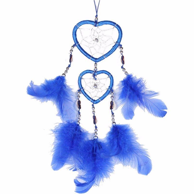 Feather Dreamcatcher Heart Web (Blue)