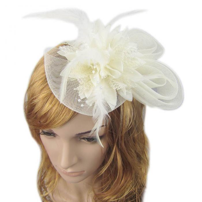 Wedding Fascinator Hair Piece - Ivory