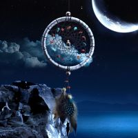 Feather Dreamcatcher with Mineral Stones