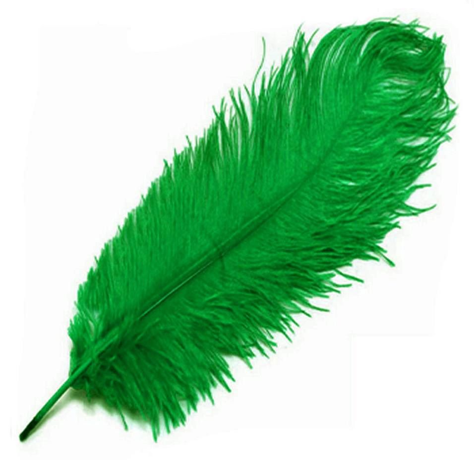 Kelly Green Ostrich Feather