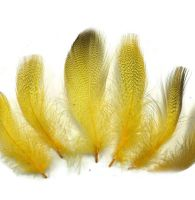 Yellow Speckled Flank Feathers x 10