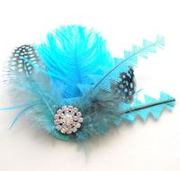 Turquoise Feather Hair Clip