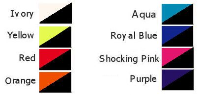 Rooster feather colour chart