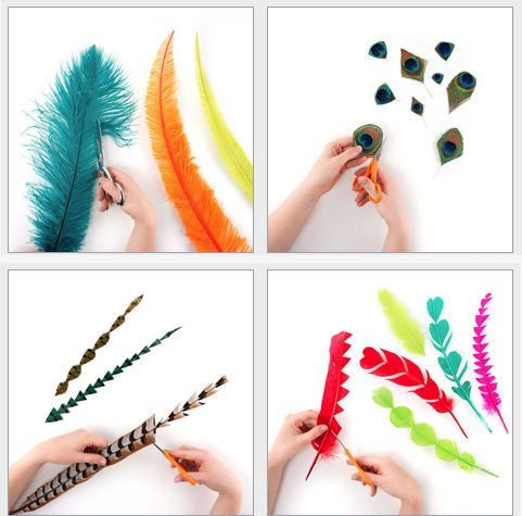 How to trim feathers for hats and fasincators