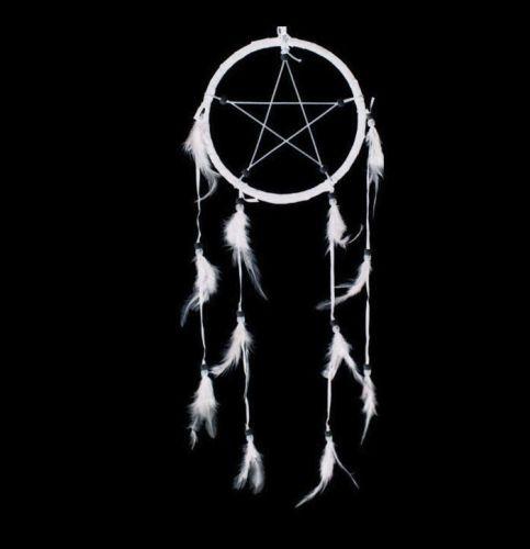 White Dream Catcher Five Star Spiritual Penagram, Ethically Sourced