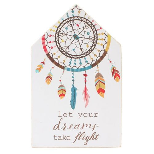Dream Catcher Freestanding Wooden Plaque
