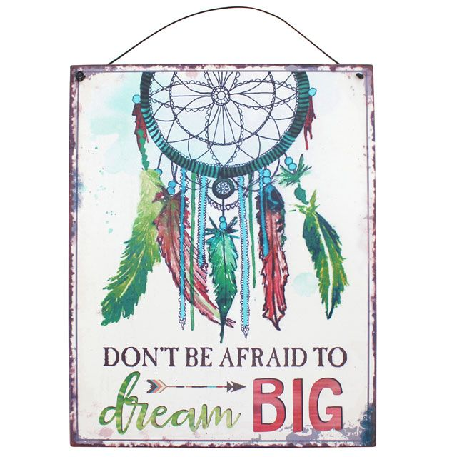 Dream Catcher Metal Sign, Ethically Sourced