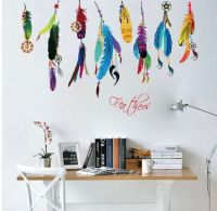 Feather Design Wall Art Stickers