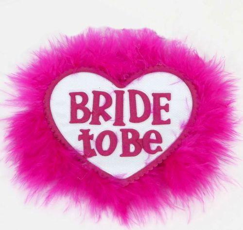 Bride to Be Heart Shaped Badge