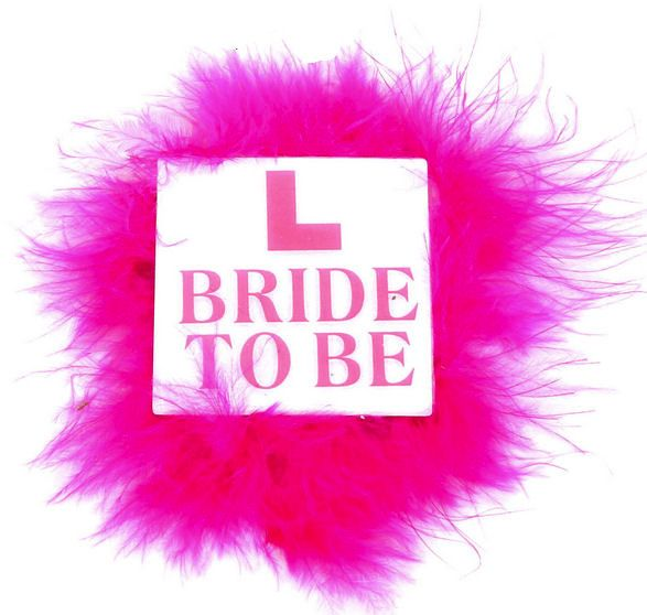 Bride to Be L Plate Badge