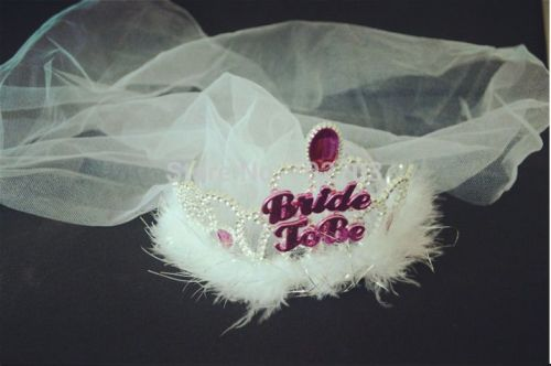 Bride to Be Hen Party Sparkly Crown with Veil