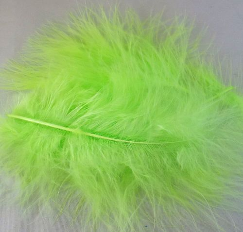 Lime Green Marabou Feathers