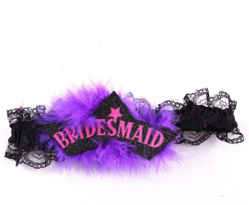 Hen Party Wedding Garter for the Bridesmaid
