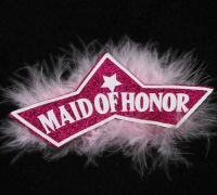 Maid of Honour Badge (Pink)