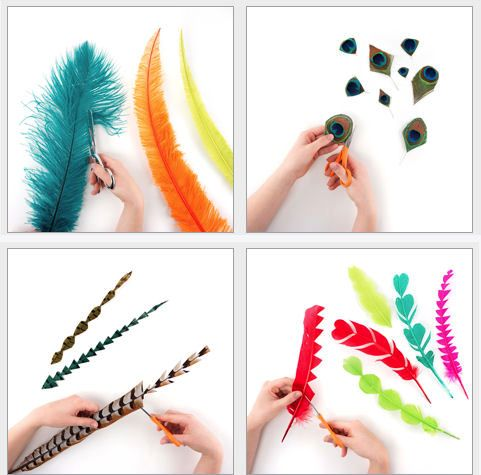Ideas on Trimming feathers for fascinators and hats