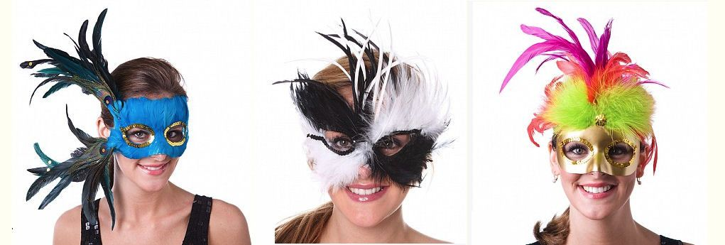 Rooster feathers make beautiful carnival celebration masks masquerades