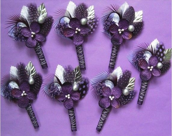 floral lilac purple buttonholes easy to make