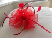 Red Wedding Fascinator