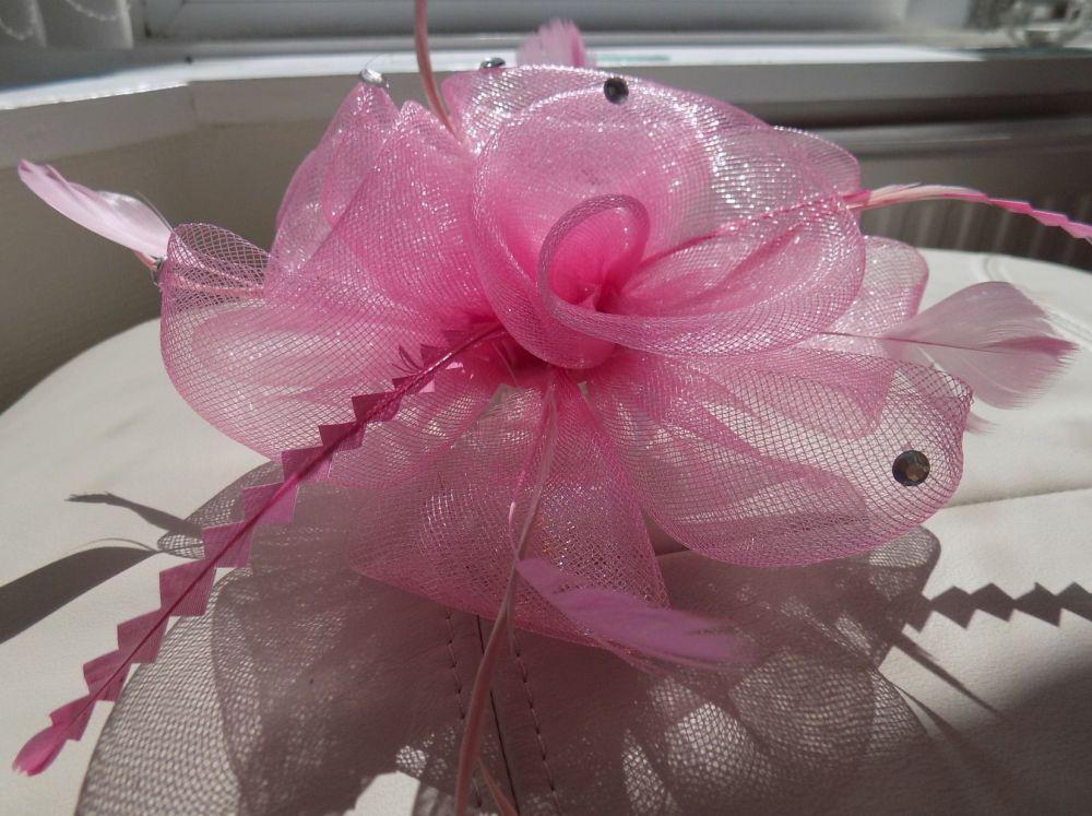 Pink Wedding Fascinator