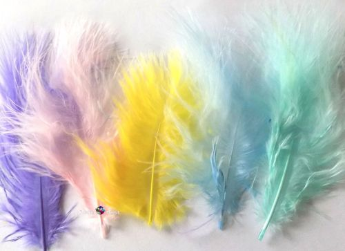 Pastel Marabou Feathers - Small