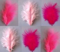 Pinks Mix Marabou Feathers - Small