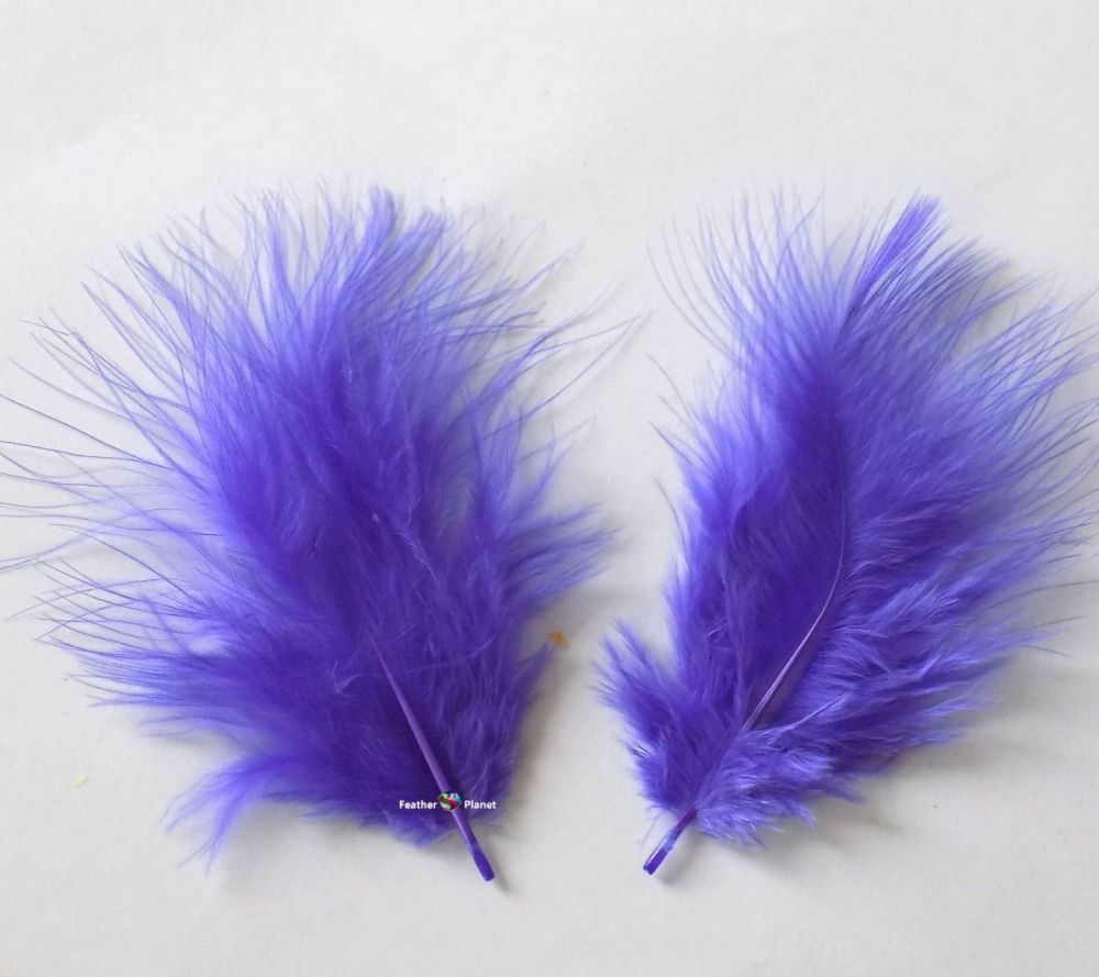 Lavender Marabou Feathers - Small