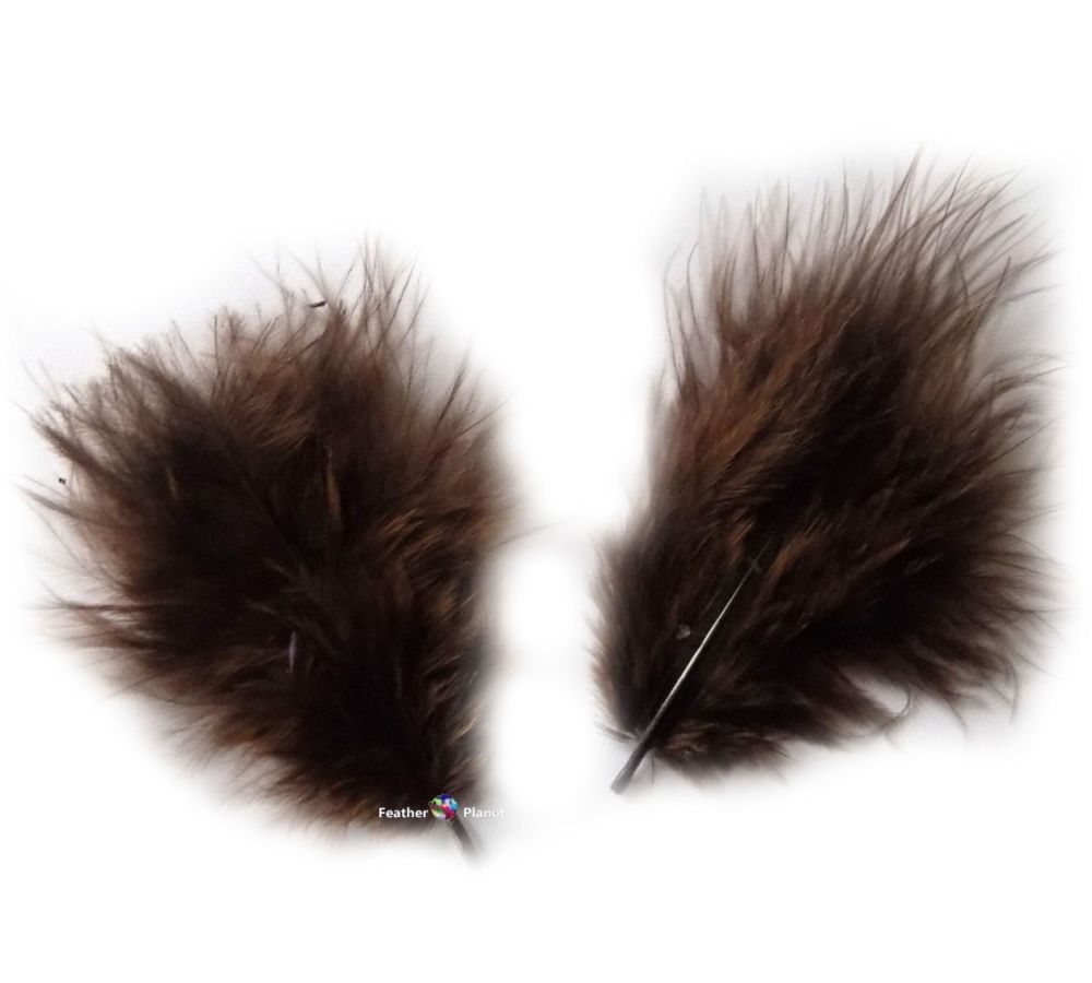 Brown Marabou Feathers - Small
