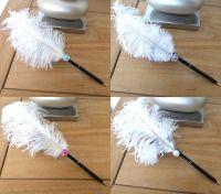 White Ostrich Feather Wedding Pen