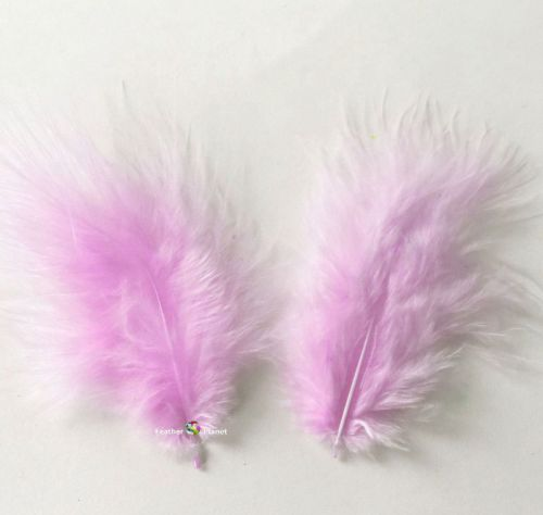 Orchid Lilac Marabou Feathers - Small
