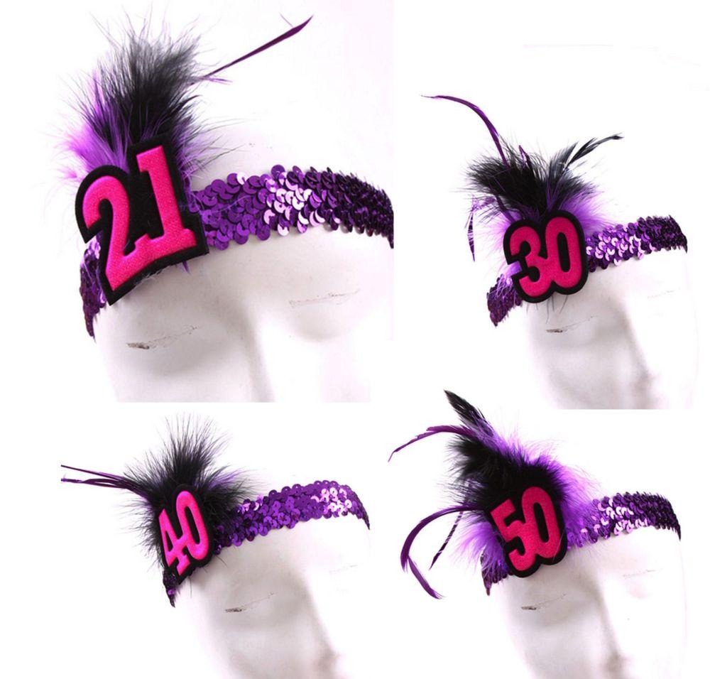 Birthday Age Flapper Headband