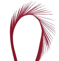 Burgundy Goose Biot Feather