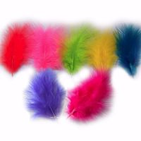 Assorted Vibrant Neon Marabou Feathers - Small