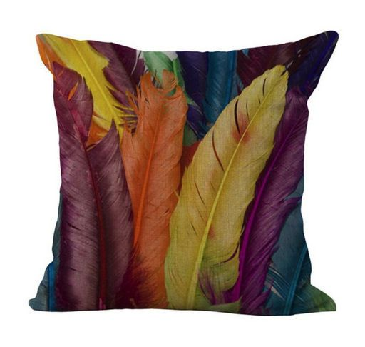 Cushion Cover with Contemporary Feather Design (GC01)