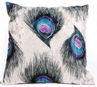 Cushion Cover with Peacock Feather Design (GC05)