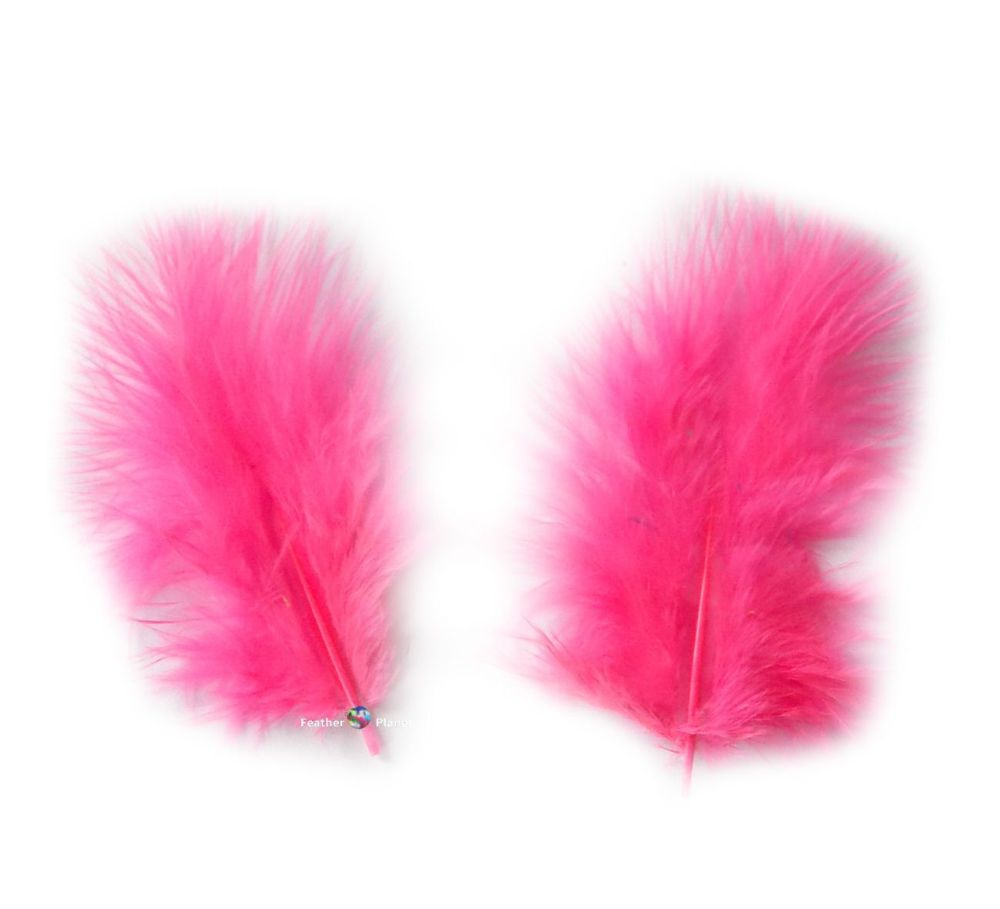 Hot Pink Marabou Feathers - Small