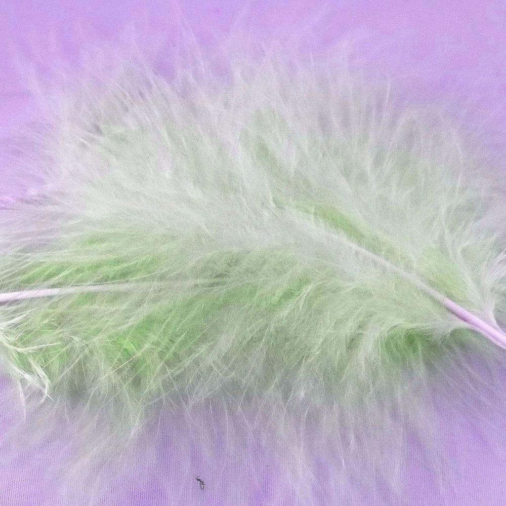 Apple Green Marabou Feathers
