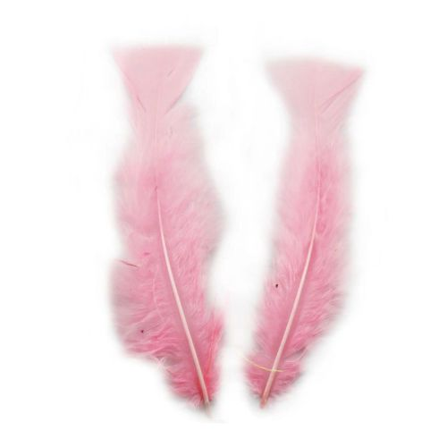 Baby Pink Turkey Feathers Flats