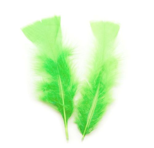Lime Green Turkey Feathers Flats