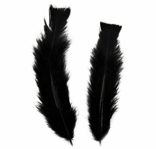 Black Turkey Feathers Flats 10 Gram Bumper Pack
