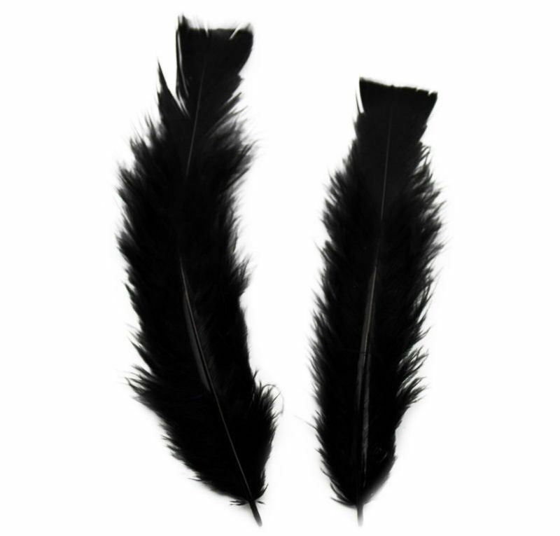 Black Turkey Feathers Flats 10 Gram Bumper Pack