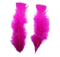 Dark Pink Turkey Feathers Flats 10 Gram Bumper Pack