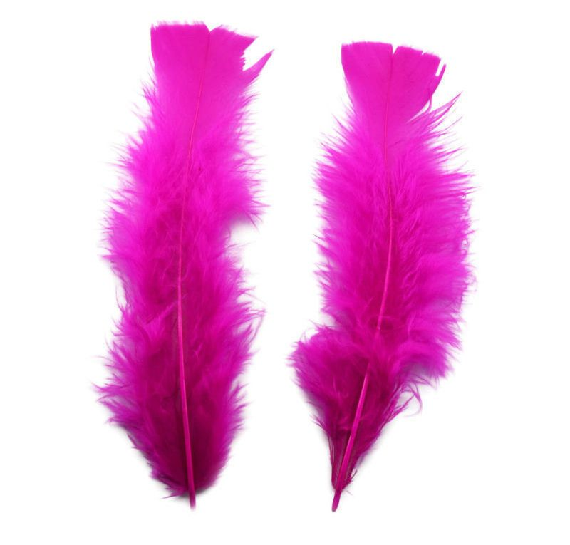 Dark Pink Turkey Feathers Flats 10 Gram Bumper Pack